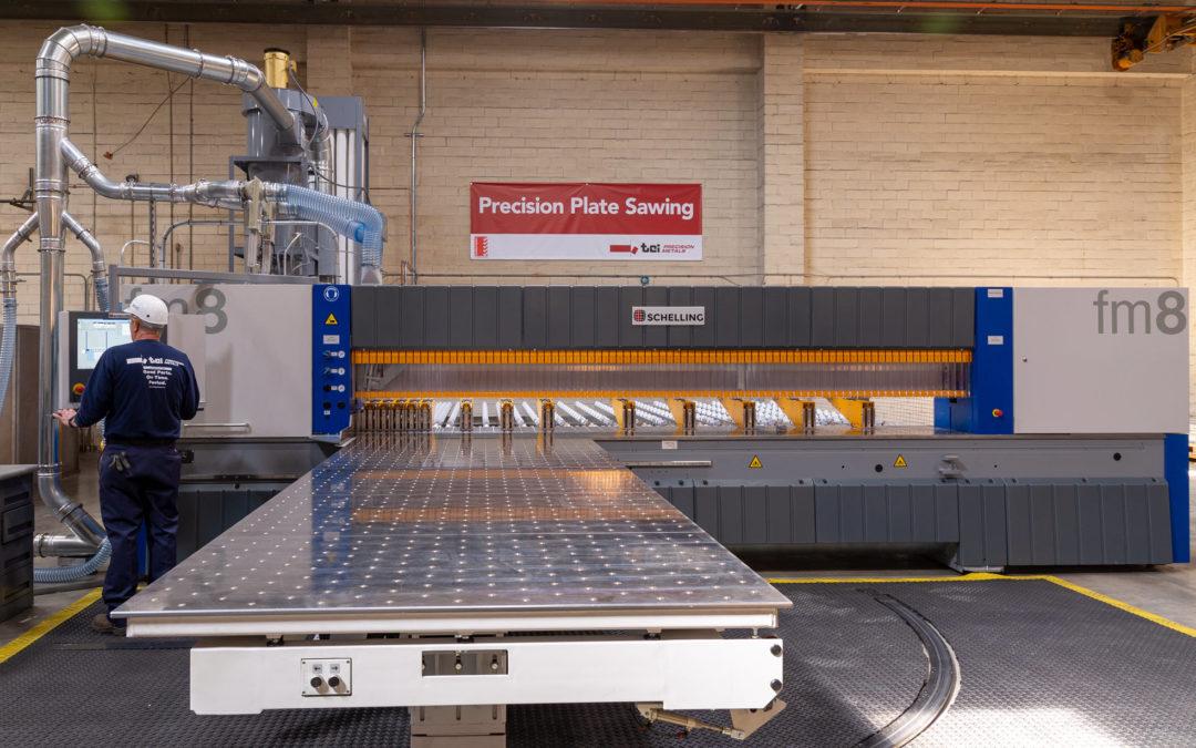 TCI Precision Metals Adds New Precision Plate Saw